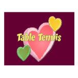 Tenis de mesa del amor del corazón I Postal