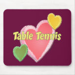 Tenis de mesa del amor del corazón I Tapete De Ratón