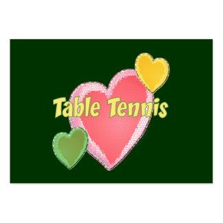 Tenis de mesa del amor del corazón I Tarjetas De Visita Grandes