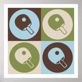 Tenis de mesa del arte pop póster