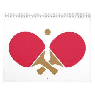 Tenis de mesa del ping-pong calendarios de pared