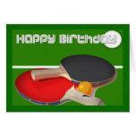Tenis de mesa del ping-pong del deporte del tarjeta de felicitación