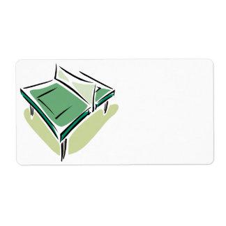 Tenis de mesa etiqueta de envío