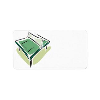 Tenis de mesa etiquetas de dirección