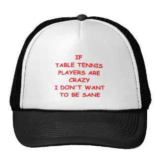 tenis de mesa gorras de camionero