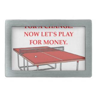 tenis de mesa hebilla cinturon rectangular