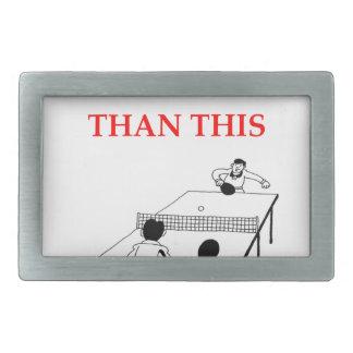 tenis de mesa hebilla de cinturón rectangular