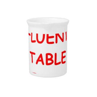 tenis de mesa jarrón
