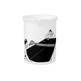 tenis de mesa jarra para bebida