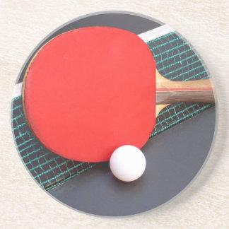 Tenis de mesa posavasos diseño