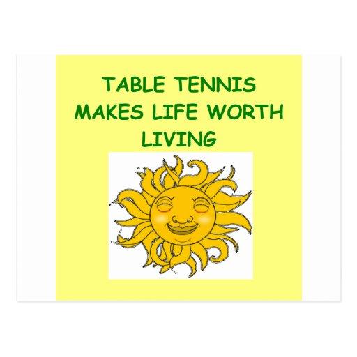 tenis de mesa postales