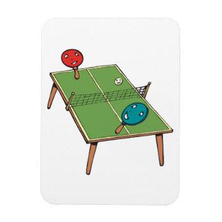 Tenis de mesa rectangle magnet
