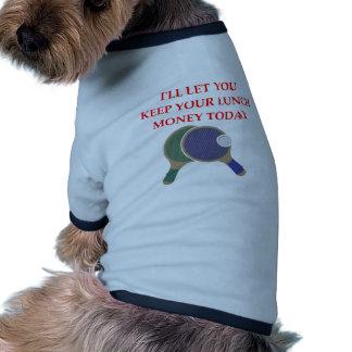 tenis de mesa camiseta con mangas para perro