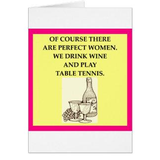 tenis de mesa tarjeta de felicitación