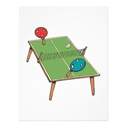 Tenis de mesa tarjetas informativas