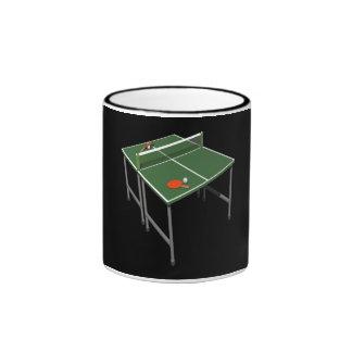 Tenis de mesa taza a dos colores