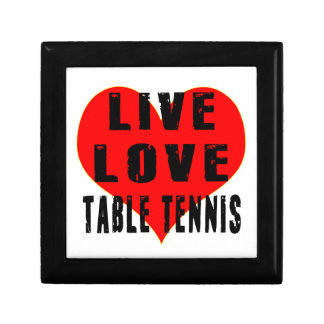 Tenis de mesa vivos del amor caja de regalo