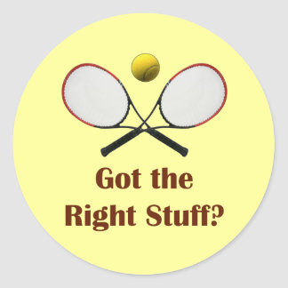 Tenis de Right Stuff Pegatina Redonda