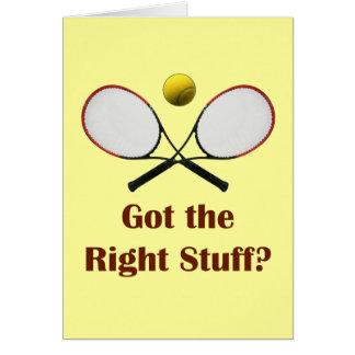 Tenis de Right Stuff Tarjeta Pequeña