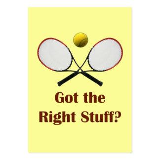 Tenis de Right Stuff Tarjetas De Visita Grandes