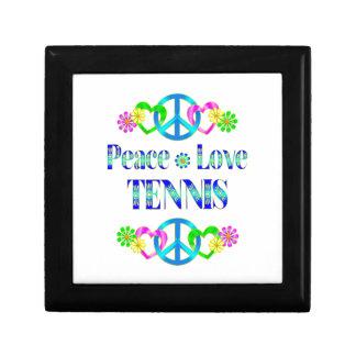 Tenis del amor de la paz caja de recuerdo