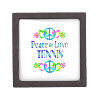 Tenis del amor de la paz caja de joyas de calidad