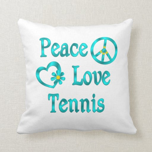 Tenis del amor de la paz almohada