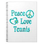 Tenis del amor de la paz cuadernos