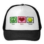 Tenis del amor de la paz gorras