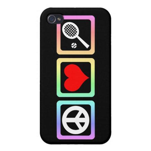 tenis del amor de la paz iPhone 4/4S carcasa