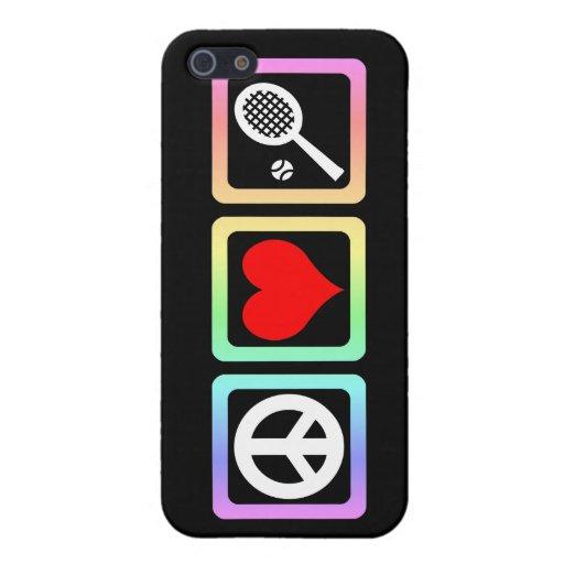 tenis del amor de la paz iPhone 5 carcasas
