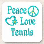 Tenis del amor de la paz posavasos