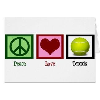Tenis del amor de la paz tarjeta