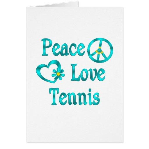 Tenis del amor de la paz tarjeton