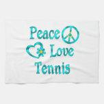 Tenis del amor de la paz toalla