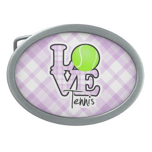 Tenis del amor hebilla de cinturon oval