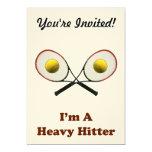 Tenis del bateador pesado invitación 12,7 x 17,8 cm