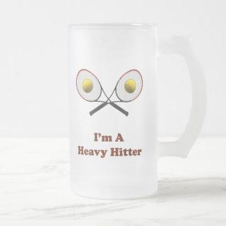 Tenis del bateador pesado taza de cristal