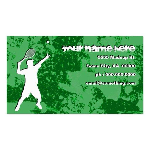 tenis del grunge plantilla de tarjeta de visita