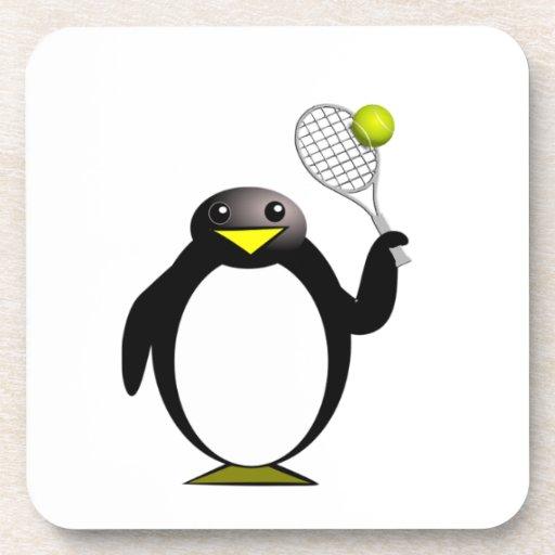 Tenis del pingüino posavasos