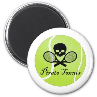 Tenis del pirata con la pelota de tenis imán redondo 5 cm