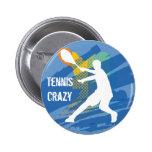 Tenis del tenis del tenis del tenis del tenis pin redondo de 2 pulgadas