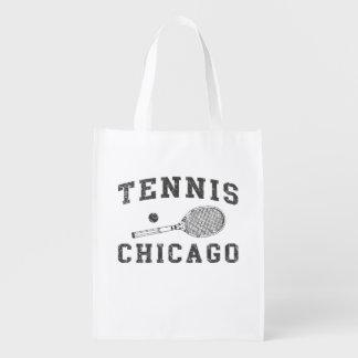 Tenis del vintage de Chicago Bolsa Reutilizable
