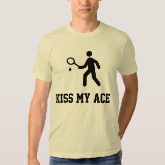 """Tenis divertido """"beso camiseta de mi as"""" remera"""