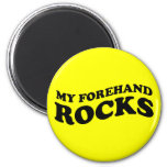 Tenis divertido mis rocas del cuarto delantero imán