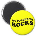 Tenis divertido mis rocas del cuarto delantero imán redondo 5 cm