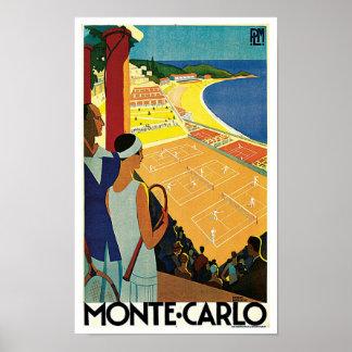 Tenis en Monte Carlo Posters