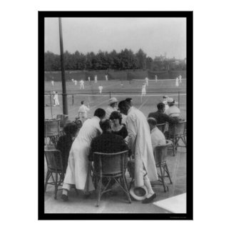 Tenis en Shangai China 1918 Poster
