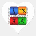 Tenis espectacular (femenino) calcomanía corazón personalizadas