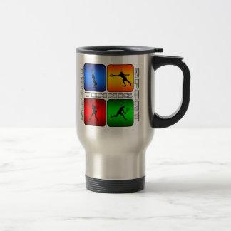 Tenis espectacular (femenino) tazas de café